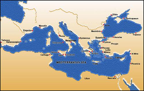 Archaic Period Economy - Greek colonization archaic period map